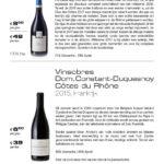 Wijnkaart Bistro Blue Origin
