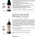 Carte des vins - Bistro Blue Origin